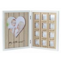 Дървена рамка за бебе - Моята първа годинка, с 13 снимки