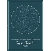 Създай Звездна карта на небето- колаж с твой текст