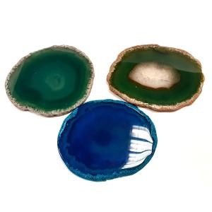 Гравирана подложка за чаша от естествен камък Ахат