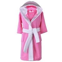 Розов детски халат за баня за момиче, размери
