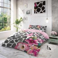 Спален комплект Калдъръм с цветя, ранфорс