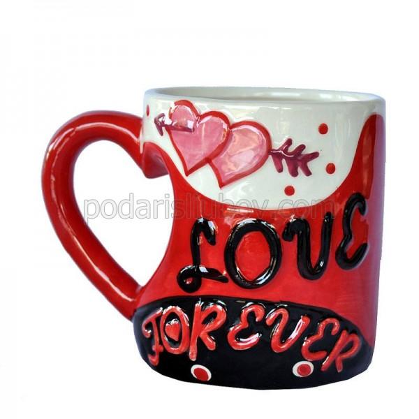 """Керамична чаша """"Love forever"""" (любов завинаги)"""