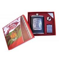 Подаръчен сет за уиски с манерка и запалка България