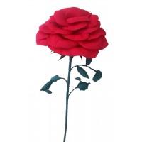 Гигантска хартиена червена роза 1,3м!