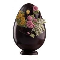 Шоколадово яйце с цветя
