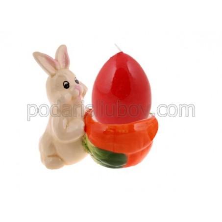 Яйцедържачка и свещ - яйце